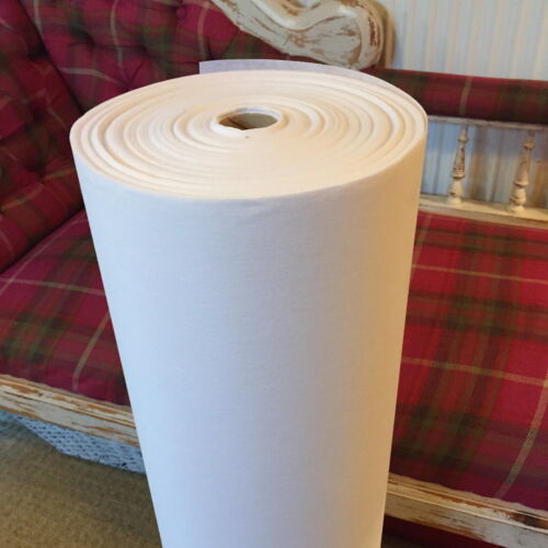 cheap QUALITY WHITE LIGHT WEIGHT IRON-ON INTERFACING PER METRE 75 CM X 1 METRE