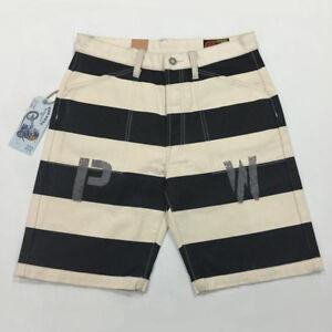 Vintage-PW-Print-Prison-Shorts-Motorcycle-Biker-16oz-Striped-Shorts-For-Men-38