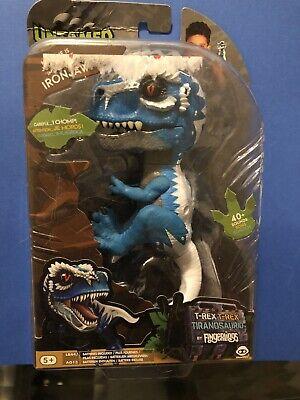 IRONJAW Untamed Raptor Dinosaur T-Rex BLUE Dino WowWee Fingerlings NEW IRON JAW