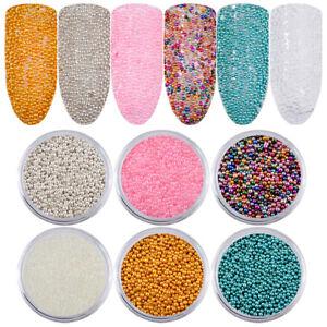 6 Boxset Caviar Nail Art Beads Manicures Mini Balls Diy Makeup