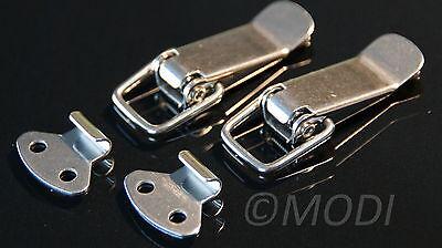 Klapp-,hebel-verschluss 2 Stück Edelstahl Spannverschluss Kistenverschluss