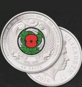 Armistice Day 50 cent coin New Zealand UNC