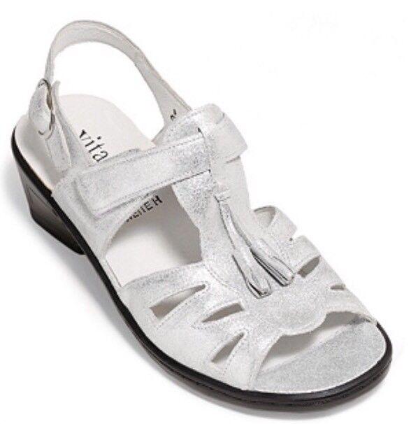 VITAFORM Absatz Sandalette echt Leder Klettverschluss Absatz VITAFORM ca. 4,5cm Gr.40 d6148b