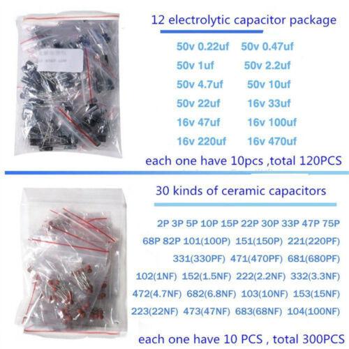 1390pcs//Set Electronic Components Kit Basic Electronics Transistors Assortment