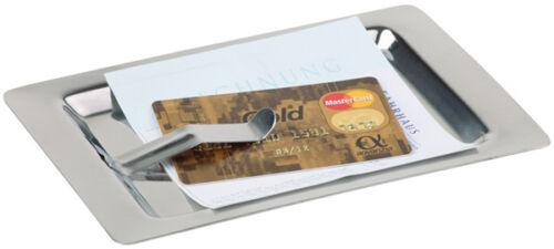 Edelstahl Rechnungstablett mit Klemme Rechnungshalter Belegtablett 10 Stk