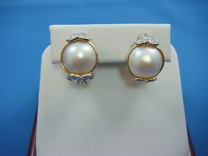BEAUTIFUL-18K-YELLOW-GOLD-PEARL-AND-DIAMONDS-OMEGA-BACK-EARRINGS-11-GRAMS