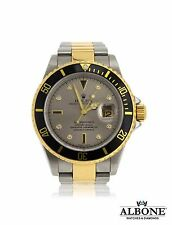 Rolex Submariner Stainless Steel & Gold Slate Serti Dial 2007 Model 16613T