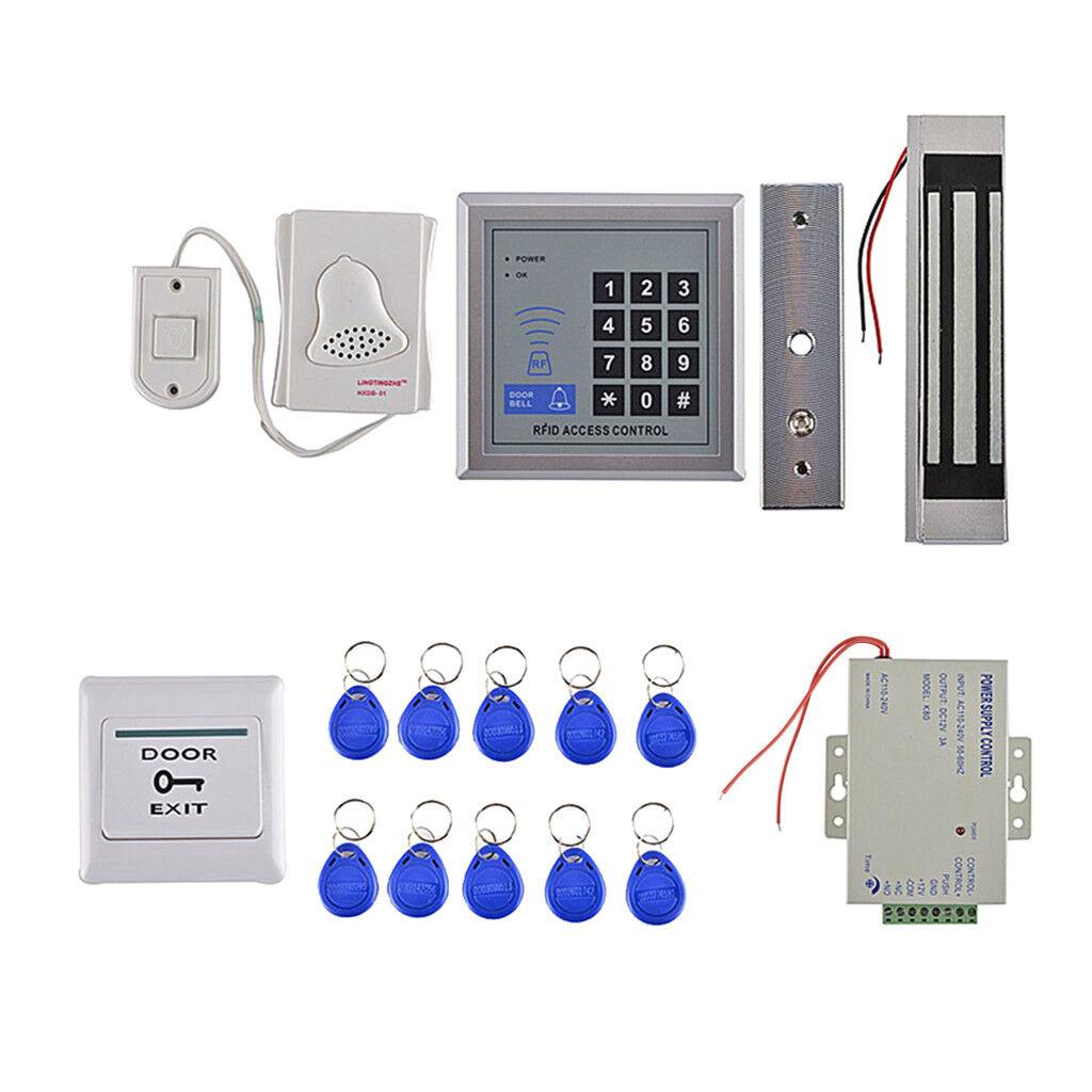 Puerta de tarjeta RFID y contraseña Kits De Teclado De Control De Acceso Con 10 Llavero Nuevo