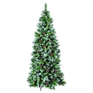 Artificial Christmas Tree Branches.Details About 7 4ft Frosted Glacier Artificial Christmas Tree With Hook On Branches