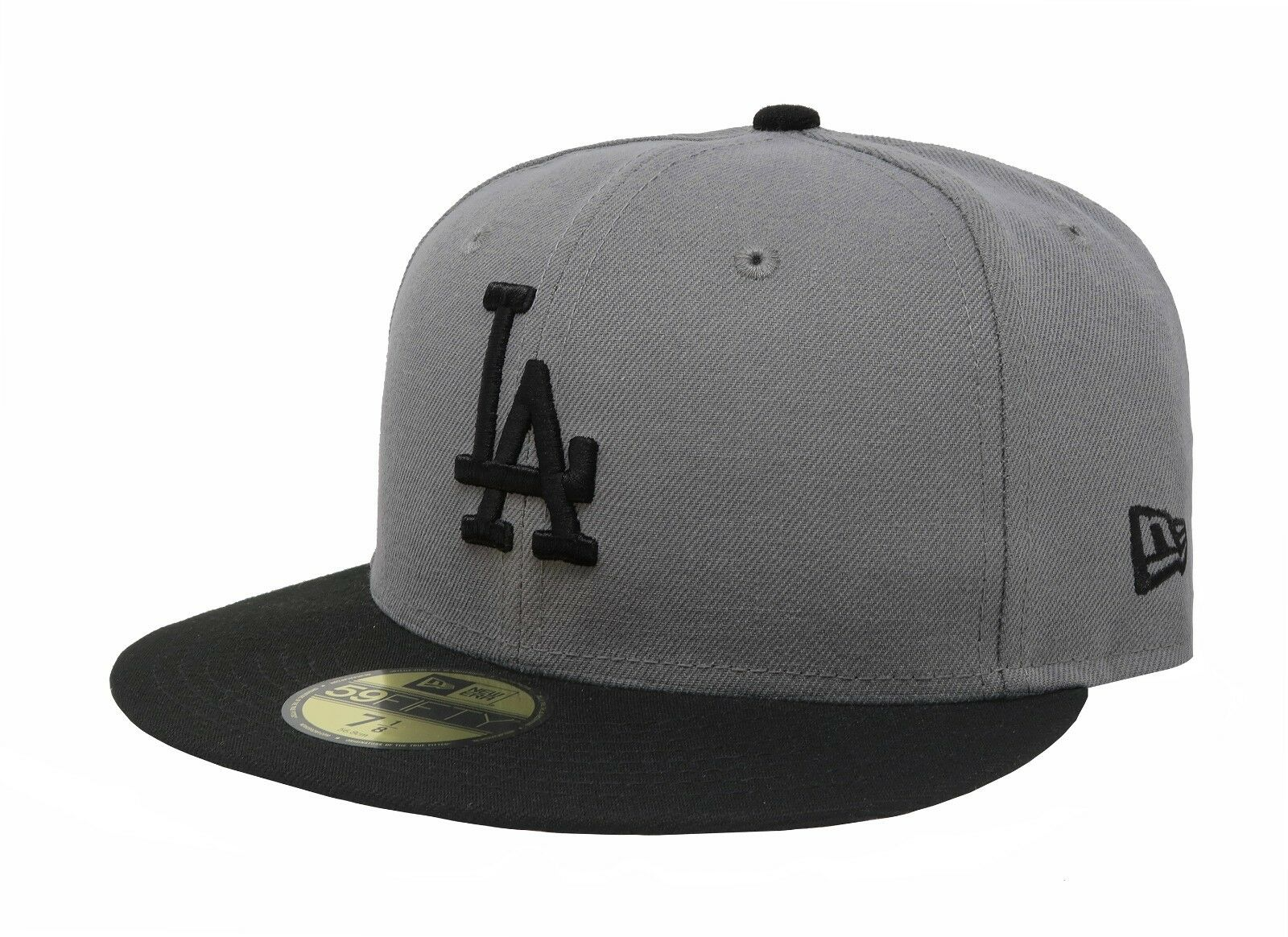 New Era 59Fifty Cap MLB Los Size Angeles Dodgers Mens Adult Size Los Gray Fitted 5950 Hat e885cb