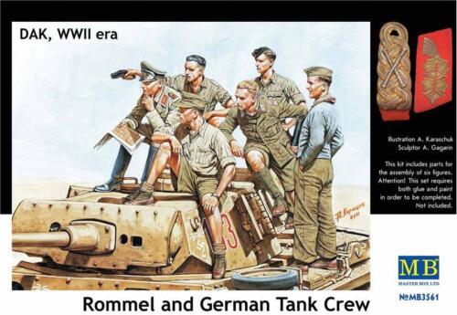 Master Box 1//35 Rommel et allemand tank crew DAK WWII Nº 3561