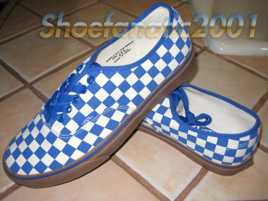 Vans White Authentic Sample Checkerboard Blue White Vans Gum  9 Syndicate baa05d