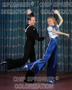 Ginger Rogers Fred Astaire Follow The Fleet 8x10 Color Reprint Free Ship Ebay