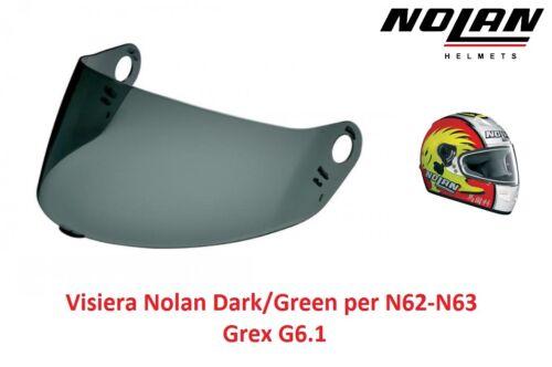 Visiera di ricambio Originale Nolan Fumè scuro per Casco Nolan N63 N62-Grex G6.1