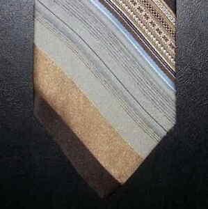 7d01c50e4743ce The Men's Shop JCPenney Tie Tan Brown Blue Gray Diagonal Stripe ...