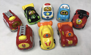 Lot-of-8-VTECH-GO-GO-SMART-WHEELS-Race-Car-Police-Fire-Truck-ATV-5-Electronic