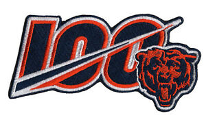NEW-5-034-2019-CHICAGO-BEARS-100th-Anniversary-Iron-on-NFL-Football-Jersey-PATCH