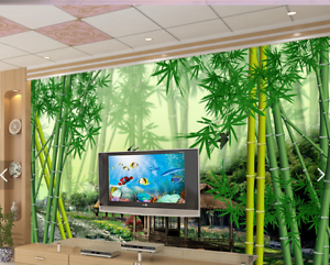 3D Green Bamboo Forest 559 Wall Paper Wall Print Decal Deco Indoor Wall Mural CA