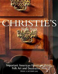 Christie S American Furniture Prints Folk Art Decorative Art Auction Catalog Ebay