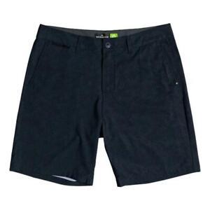 Quiksilver-NEW-Men-039-s-Union-Heather-Amphibian-19-034-Boardshorts-Black-BNWT
