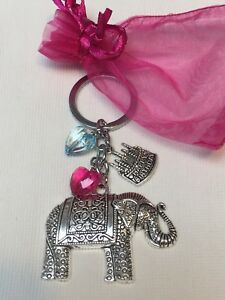 Happy-Birthday-Elephant-Keyring-Gift-Keepsake-With-Organza-Gift-Bag-Freepost