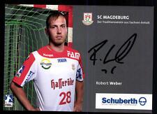 Robert Weber Autogrammkarte SC Magdeburg Original Signiert + A 103361