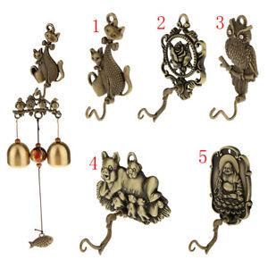 Metal-Cat-Shape-Wind-Chime-Hanger-Bell-Charm-Coat-Hat-Hook-Garden-Ornament