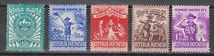 Indonesia-Indonesie-137-141-MLH-ong-1955-1e-national-Jamboree-in-Jakarta