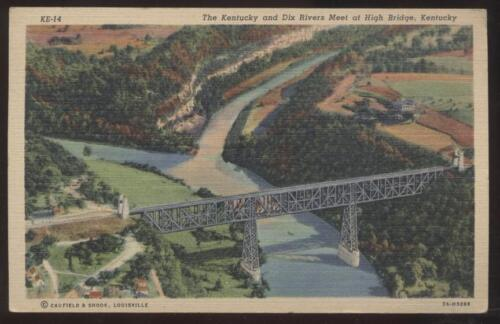 Postcard DIX RIVER,KentuckyKY HIGH RAILROAD BRIDGE view 1940's?