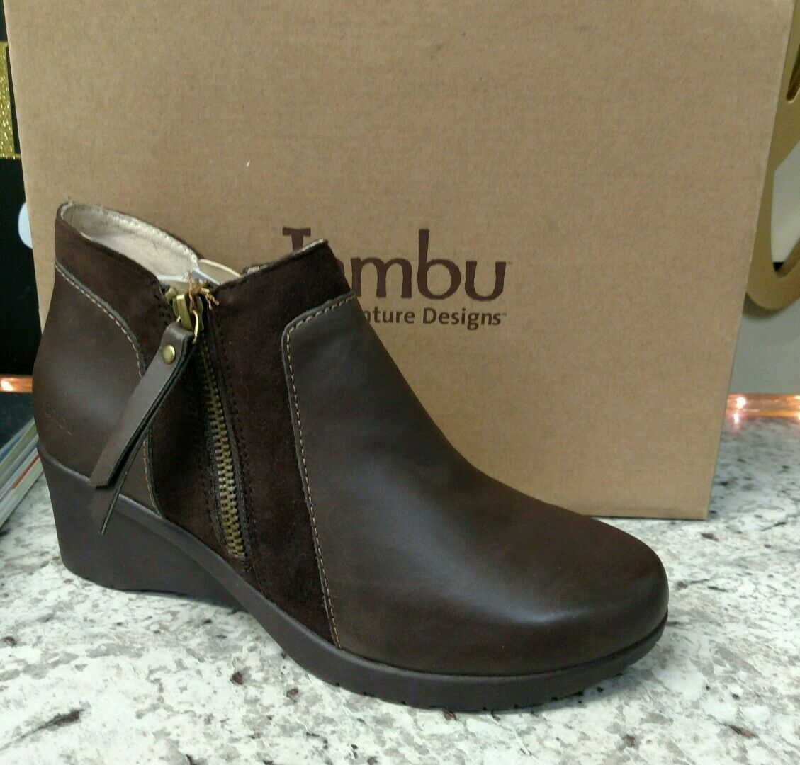 JAMBU  CUBE ANKLE BOOTS ZIPPER BOTH SIDES  REG.  160 VERY NICE    LEATHER