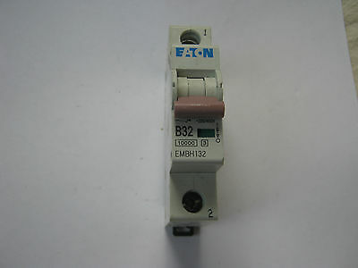 EATON EMBH132 B32 32 AMP 10KA SINGLE POLE MCB CIRCUIT BREAKER.