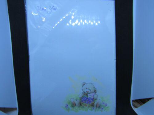 20 merci feuilles-assis Bear Design Avec Enveloppes Simon Elvin -