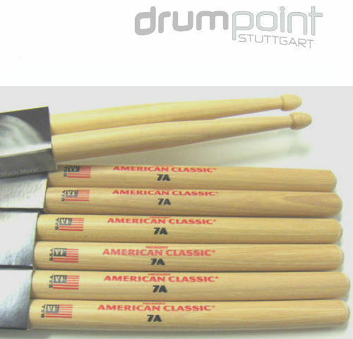 12 Paar Vic Firth American Classic Hickory 7A Sticks Drumsticks  *TOPANGEBOT*