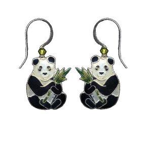 Herzhaft Bamboo Jewelry Pandabär Cloisonne Ohrringe Emaille Sterlingsilber Ohrschmuck