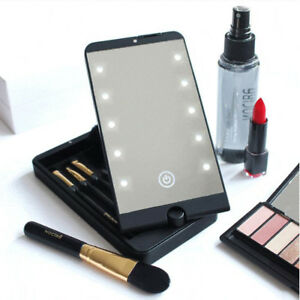 Portable-Folding-Makeup-Compact-Mirror-Cosmetic-Pocket-with-10-LED-Lights-Lamps