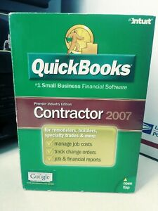 GENUINE Quickbooks Premier 2007 Industry Edition ...