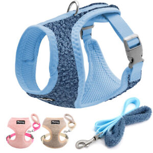 Breathable-Soft-Mesh-Pet-Harness-and-Lead-Dog-Cat-Walking-Vest-Pink-Blue-Beige
