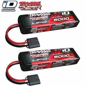 Traxxas-2872x-3s-11-1-v-5000-25-Centavos-Lipo-bateria-C-Identificador-Conector-2-Pack-Combo