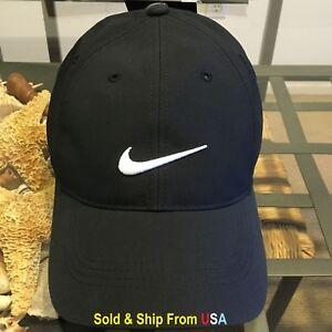 f0966017302 NIKE LEGACY 91 DRI-FIT BLACK 1 SIZE STRAPBACK BASEBALL CAP HAT NWT ...