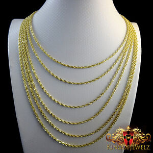 10k 2.5MM Diamond-Cut Rope Chain
