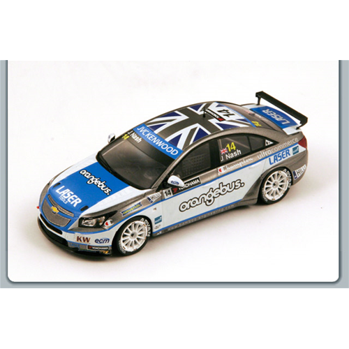CHEVROLET CRUZE 1.6T N.14 WTCC 2013 JAMES NASH 1:43 Spark Model Die Cast