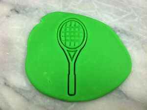 Tennis Racket Cookie Cutter CHOOSE YOUR OWN SIZE! Detailed