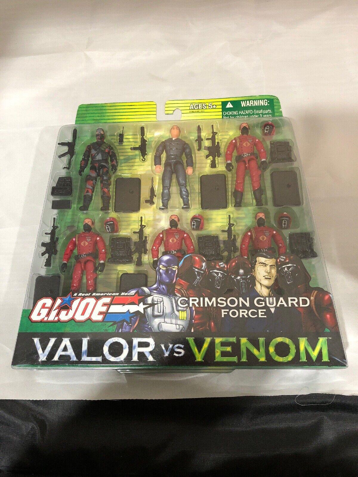 G.I. Joe Valor vs Venom Crimson Guard Force 6 Pack  New