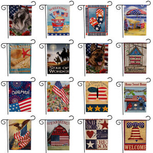 Details About Welcome Garden Flag Indoor Outdoor Home Decor Letters Flowers Flag Drop Shipping