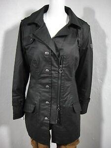 NWT-WELLENSTEYN-Amato-CarbonniteTec-Trench-Coat-Jacket-Black-size-XL