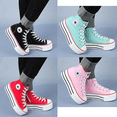 Wedges Trainers Heels Sneakers Platform Low Top Ankles Boots Shoes C50 7Mok
