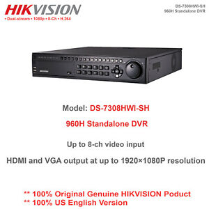 Details about Original Hikvision-USA DS-7308HWI-SH 8CH 960H Analog  Standalone DVR/BNC/HDMI