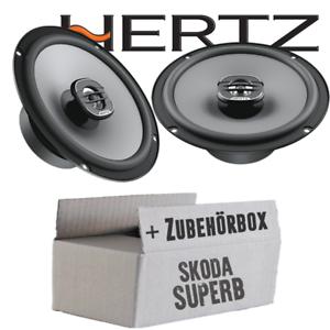 Hertz-Lautsprecher-fuer-Skoda-Superb-Front-Heck-Boxen-Auto-Einbauzubehoer-set-PKW