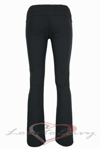 Pantaloni Donna Qualità Nero Attillato Boot Cut Pantaloni 6-14 /& 3 le lunghezze del lembo.