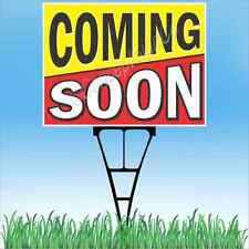18x24 Coming Soon Outdoor Yard Sign Amp Stake Sidewalk Lawn Store Grand Opening